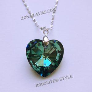 Колие Heart SWAROVSKI® Bermuda Blue